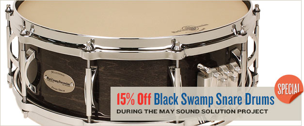 Black Swamp Snare Drum Sale.