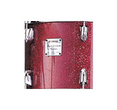 Yamaha Absolute drum with Burgundy Sparkle finish.