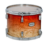 Yamaha PHX burled ash exterior shell in Garnet Fade finish with chrome hardware.