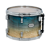 Yamaha PHX burled ash exterior shell in Sapphire Fade finish with chrome hardware.