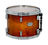 Yamaha PHX burled ash exterior shell in Textured Amber Sunburst finish with chrome hardware.