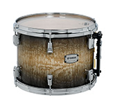 Yamaha PHX burled ash exterior shell in Textured Black Sunburst finish with chrome hardware.