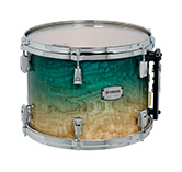 Yamaha PHX burled ash exterior shell in Turquoise Fade finish with chrome hardware.