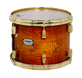 Yamaha PHX burled ash exterior shell in Textured Amber Sunburst finish with gold hardware.