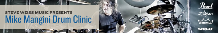 Steve Weiss Music Presents: Mike Mangini Drum Clinic.