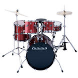 "ludwig accent cs combo power drum set with 22"" bass and deep toms - wine red"