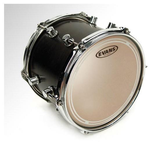 Evans Ec2 Black Evans Ec2 Coated Drumhead