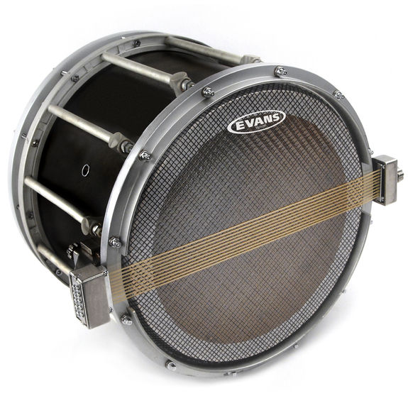 evans hybrid snare side marching drum head marching snare drum heads steve weiss music. Black Bedroom Furniture Sets. Home Design Ideas