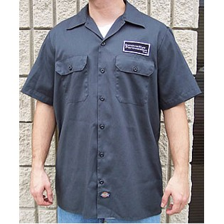 innovative percussion grey work shirt