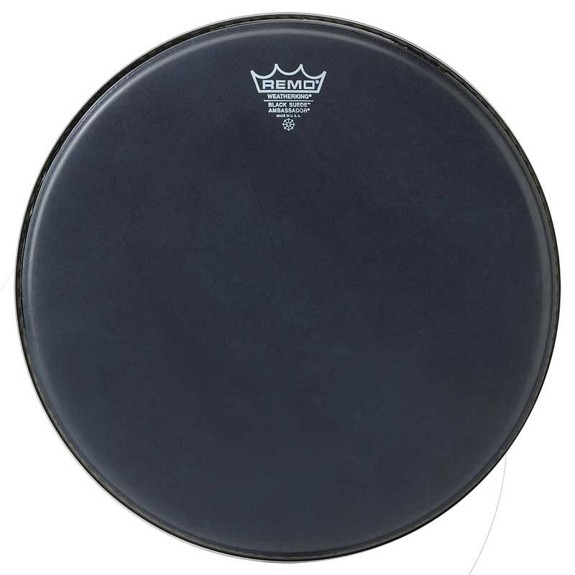 remo black suede ambassador drum heads snare drum heads tom heads drum set drum heads. Black Bedroom Furniture Sets. Home Design Ideas
