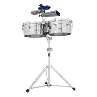 lp tito puente timbale set - 12/13 stainless steel