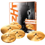 "zildjian zht pro 4 cymbal pack with free 18"" fast crash"