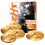 "zildjian zht rock 4 cymbal pack with free 18"" rock crash"