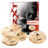 "zildjian zxt rock 4 cymbal pack with free 18"" rock crash"
