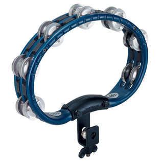 meinl abs double row blue tambourine with mount-aluminum jingles