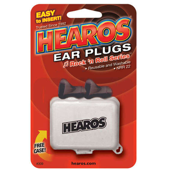 hearos rock 39 n roll ear plugs 1 pair with case ear protection and ear plugs accessories. Black Bedroom Furniture Sets. Home Design Ideas