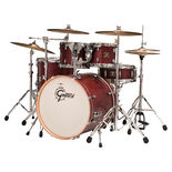 gretsch satin cherry catalina birch lacquer 5-piece shell pack drum set