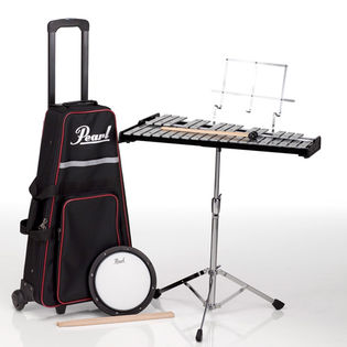 pearl pk900c percussion kit with carry bag and rolling cart