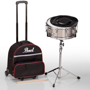 pearl sk900c snare drum kit with carrying case with wheels