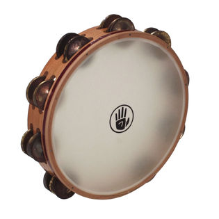 black swamp 10&quot; soundart s3 double row tambourine - synthetic head