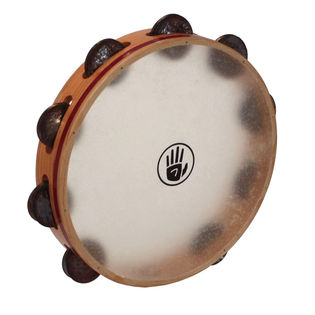 black swamp 10&quot; soundart s3 single row tambourine - calf head