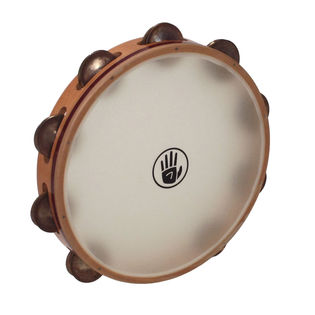 "black swamp 10"" soundart s3 single row tambourine - synthetic head"