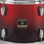 "ruby sparkle fade gretsch renown maple 3 piece rock kit shell pack drum set with 24"" bass"