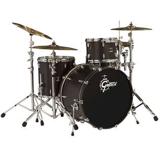 "gretsch renown maple 3 piece rock kit shell pack drum set with 24"" bass"
