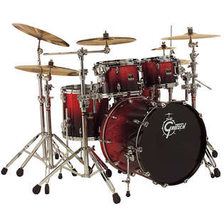 "gretsch renown maple 4 piece euro kit shell pack drum set with 22"" bass"