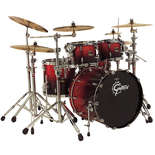 gretsch renown maple 4 piece euro kit shell pack drum set with 22&quot; bass