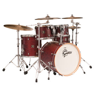 gretsch catalina birch 5 piece standard shell pack drum set - uv gloss finish with 14x6.5&quot; snare drum