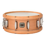 gretsch 14x5.5 contoured wood hoop maple snare drum - natural hoop finish