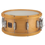 "gretsch 6.5""x14"" contoured wood hoop maple snare drum - satin natural hoops"