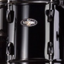 black with black hardware pearl vision vb 5-piece fusion shell pack