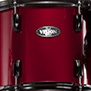 red wine with black hardware pearl vision vb 5-piece fusion shell pack