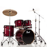 "pearl vision vb 5-piece standard drum set with 22"" bass"