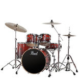 "pearl vision vba 5-piece hybrid drum set with 22"" bass"