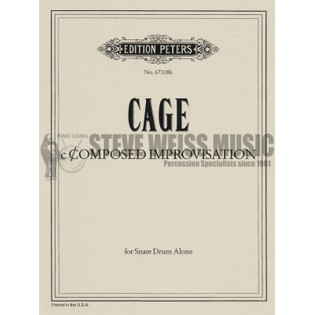 Cage Composed Improvisation For Snare Drum Sd Unaccomp Solo Snare Drum Steve Weiss Music