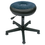 roc-n-soc lunar series drum throne - blue with round seat