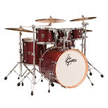 gretsch catalina maple 5-piece shell pack drum set with free tom