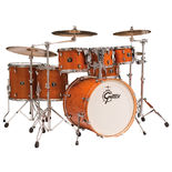 gretsch catalina maple 6-piece shell pack drum set with free tom