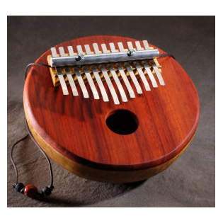 catania folk instruments 12-note gourd piano - padouk