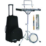 innovative percussion snare and bell kit with rolling bag