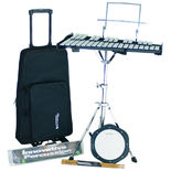innovative percussion bell kit with rolling bag