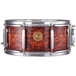 pearl birch/poplar limited edition 14x6.5 snare drum - artisan ii autumn fire covering