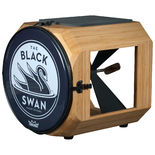 swan percussion black swan drum - carmelized bamboo