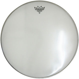 remo emperor smooth white marching bass drum heads