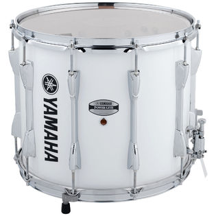 yamaha 14&quot; power-lite marching snare drum -  white