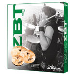 "zildjian zbt 4 rock cymbal pack with free 18"" crash"