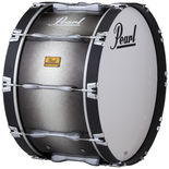 pearl championship series marching bass drum - black silver burst